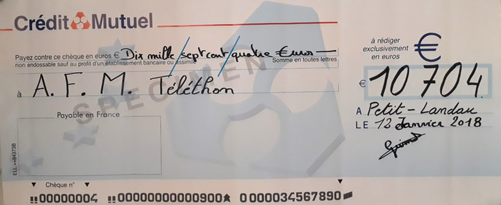 cheque telethon