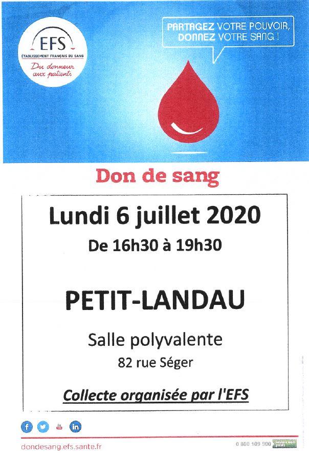 don du sang 6 juillet